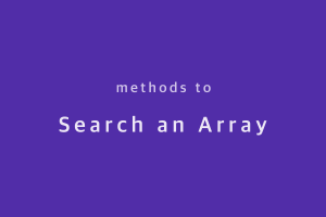 methods-to-search-an-array